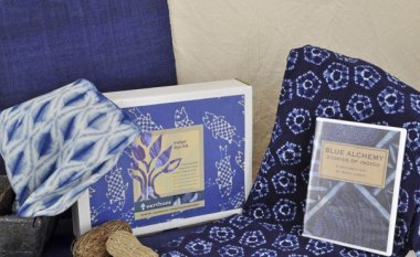 Indigo dye kit, Blue Alchemy video, Shibori cloth and kit