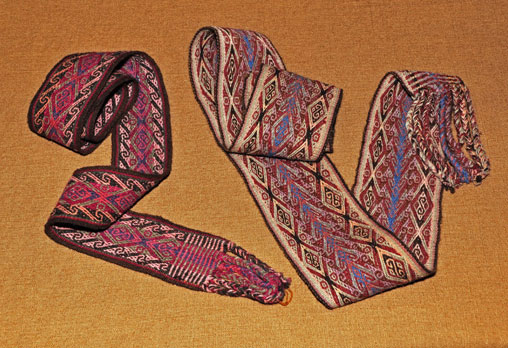 Peruvian belts, known as chumpis, come in a variety of patterns, widths, and lengths.