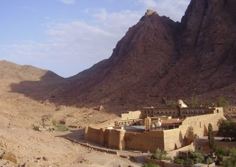 St. Catharine's Monastery sits at the foot of Mt. Sinai.
