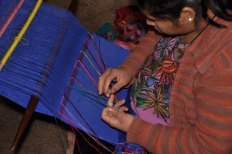 Backstrap weaving in Zinacantan, Chiapas.