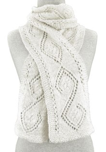 Alpaca scarf knit with handspun Peruvian yarn. Design and pattern by Nancy Bush.