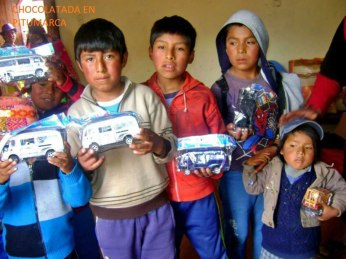 Children's toys are rare in Andean highland households. What do boys get? Toy cars.