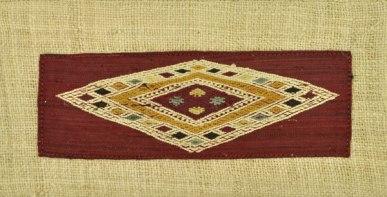 Diamonds within diamond pattern brocade woven.