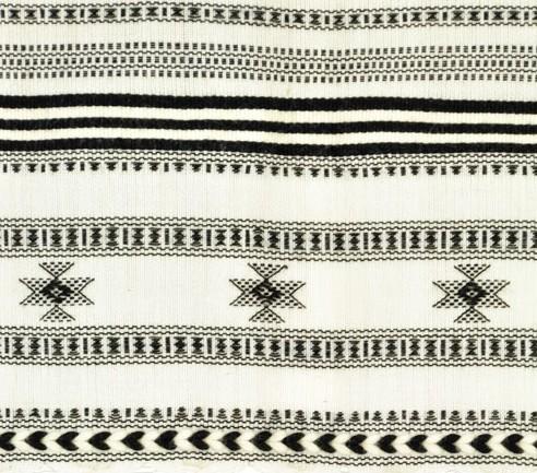 Brocade woven star motifs with center diamond pattern.