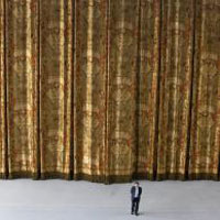 Curtain Call: The stage curtain for the Bolshoi Ballet required 1100 pounds of pure gold thread. Photo courtesy: Rubelli.
