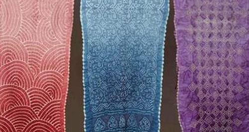 Aziz's traditional collection based on designs of chandrokhani, shikari, and ferak.