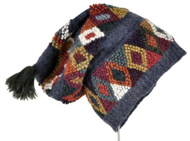The slouch hat inspired by the traditional Accha Alta handknit hat.