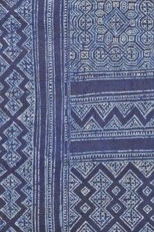 Detail of batik indigo-dyed hemp.