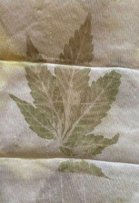 Hemp leaf print.