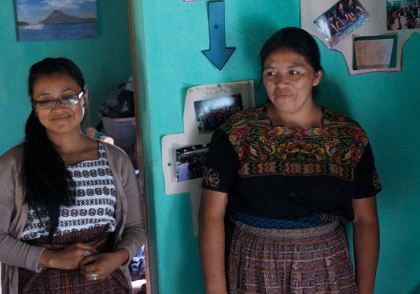 Reyna Pretzantzin, President of Multicolores, (on left) and Glendy Emiliana Muj Garcia (on right).