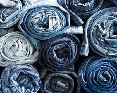 Indigo-dyed jeans