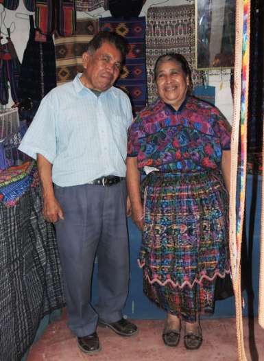 Herminia Santos with her husband Chavelo.