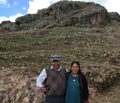 Paulino Huarhua and Nilda Callanaupa, director of The Center for Traditional Textiles of Cusco.