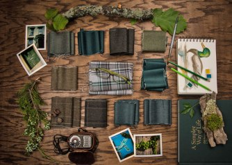 American Woolens Green collection for Fall/Winter 2017 takes its cues from nature, and highlights traditional weaves.