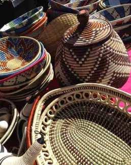 Baskets at International Folk Art Market. Photo credit, Adrienne Sloan.