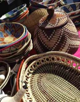 Baskets at International Folk Art Market. Photo credit, Adrienne Sloan.