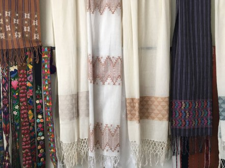 Lovely touchable cotton shawls from Guatemala.