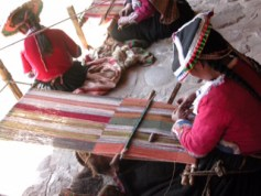 Contemporary scaffold weaving continues in Pitumarca in the highlands of Peru. Photo courtesy of CTTC.
