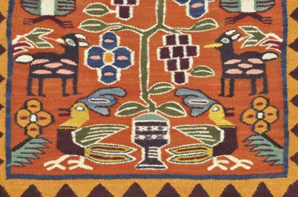 Detail from Pitumarca tapestry.