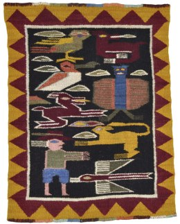 Pitumarca tapestry woven by Gregorio Ccana Rojo.