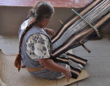A backstrap weaver from San Tomas Jalieza.