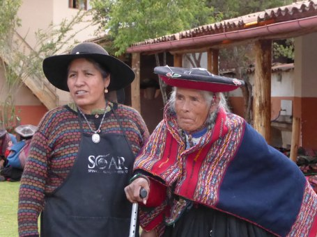 Nilda Callañaupa Alvarez (left) with her mother, Guadalupe Alvarez.