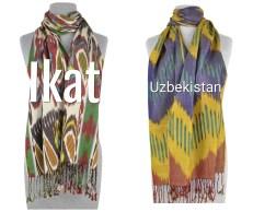 Ikat Scarves from Uzbekistan