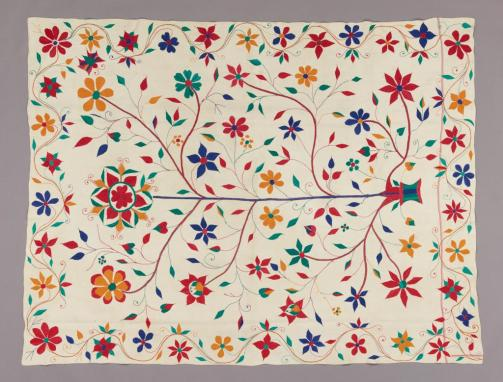 Kantha, tree of life, c. 1910–1920, cotton. All photos courtesy of the Dallas Museum of Art.