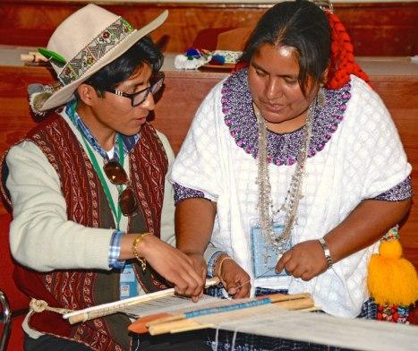 Sharing weaving techniques--Guatemala to Peru
