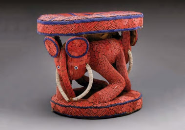 A 19th-century royal stool from Cameroon's Bamileke people.