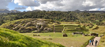 The archeological site of Sacsayhuaman overlooks the city of Cusco.