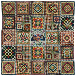 All Soldier's Quilt. Wool. United Kingdom, c. 1855 photos courtesy of the International Quilt Study Center & Museum University of Nebraska-Lincoln.
