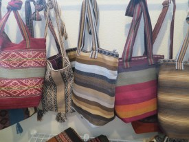 Extensive collection of handwoven Peruvian Bags