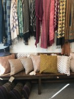 Naturally-dyed cotton pillows from Guatemala and Chiapas