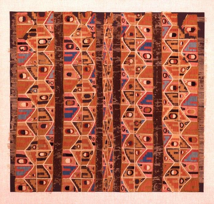 Tunic; Wari, Middle Horizon AD 650-800; 111.5 x 104 (43.9 x 40.9); wool, cotton.