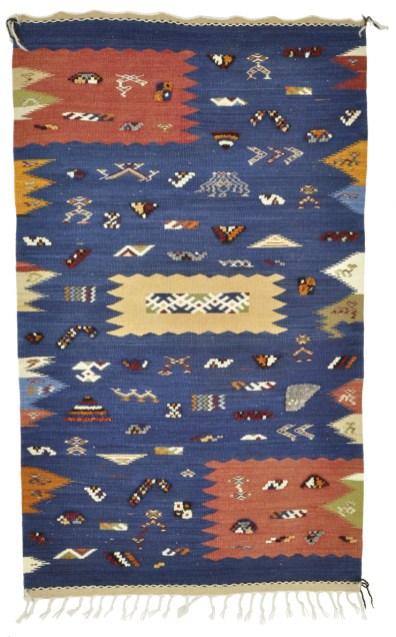 An innovative rug woven by Fatima El Mennouny.