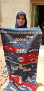 Handwoven runner by Fatima Id Rahou.