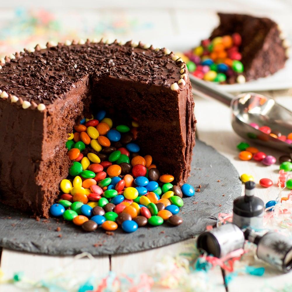 Trick Or Treat Chocolate Pinata Cake Baking Mad