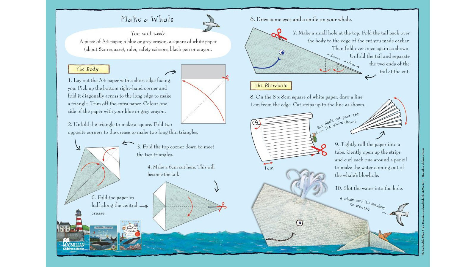Get Crafty With These Fun The Snail And The Whale Kids