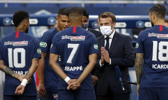 Le Président français rencontre Mbappé, Icardi et Neymar