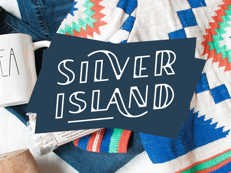 Silver Island font-face update jumps on the trend of outlined type.
