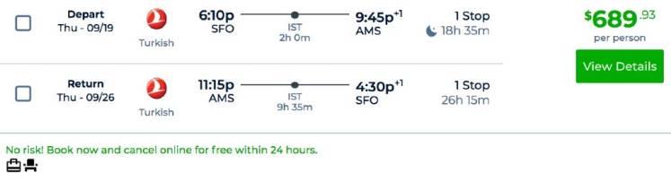 Priceline cancellation example.