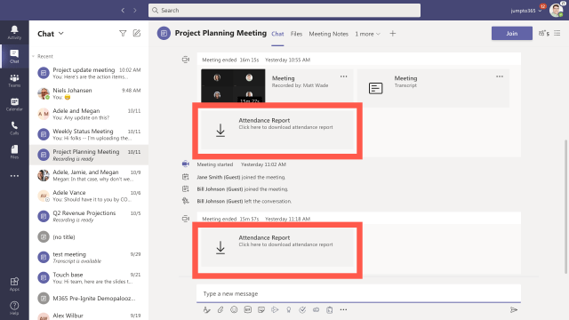 How to use the new attendance report in Microsoft Teams meetings