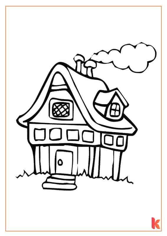 Free Gingerbread House Coloring Pages Download Print Now By Kidadl
