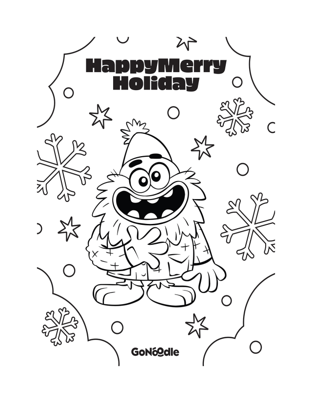 HappyMerryHoliday Coloring Sheets - GoNoodle