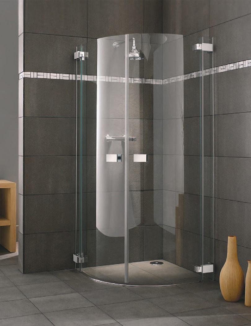 Lakes Italia Siena Frame Less Hinged Door Quadrant Enclosure 900 X 900mm