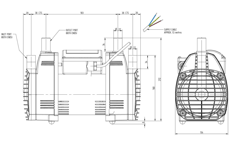 Stuart Turner Techflo Qt Standard 1 3 Bar Twin Shower Pump