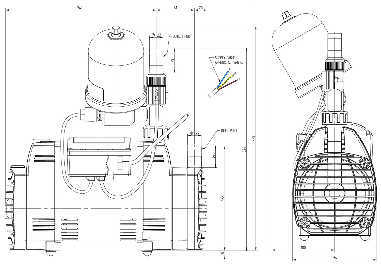 Stuart Turner Techflo Qt Universal 2 3 Bar Single Shower Pump