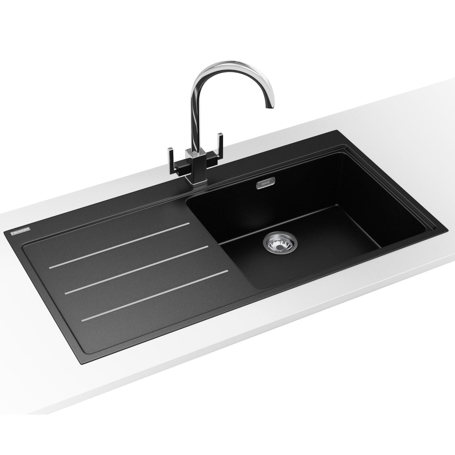 Franke Mythos Fusion DP MTF 611 Fragranite Onyx Sink And