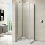 Merlyn 8 Series Frameless Hinged Bifold Shower Door 760mm
